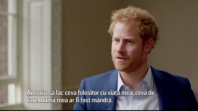 Printul Harry a vorbit intr-un interviu despre cum a vrut sa faca ceva de care mama sa ar fi fost mandra.