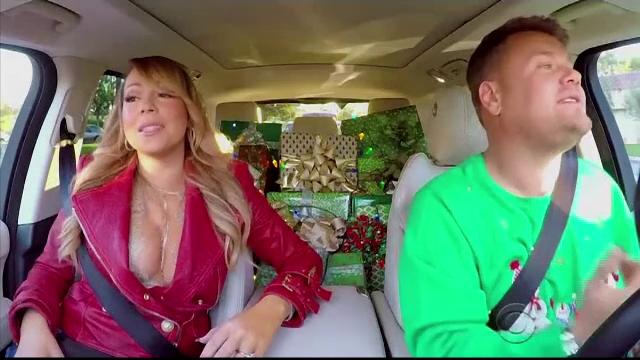 Cate vedete incap in masina lui James Corden. Piesa de sezon a lui Mariah Carey, cantata de starurile muzicale