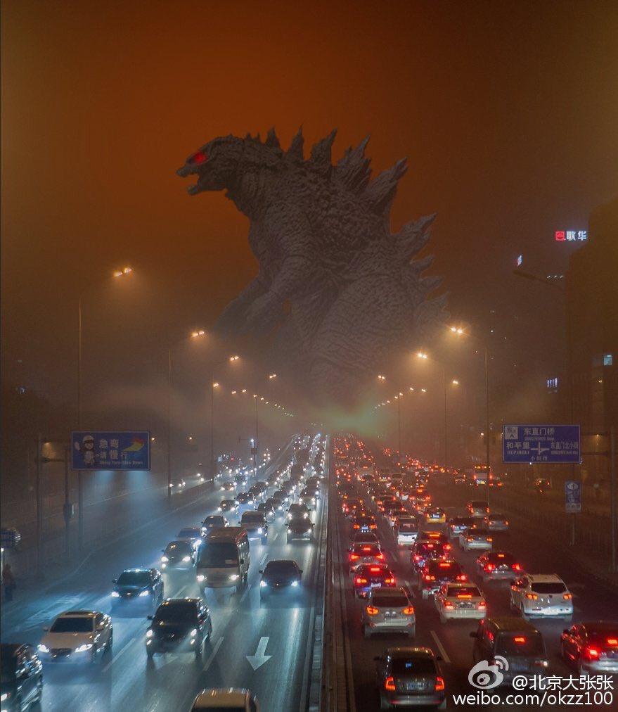 China se sufoca intr-un nor de poluare. Atmosfera ii face pe oameni sa se simta ca intr-o