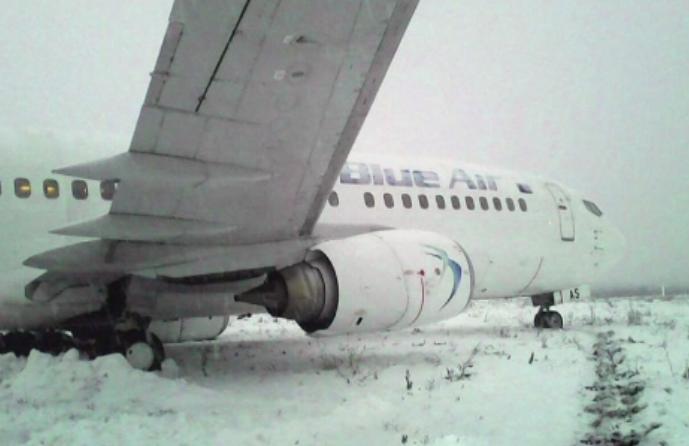 Raport final privind incidentul de pe Aeroportul din Cluj, unde un avion Blue Air a iesit de pe pista. Ce s-a intamplat