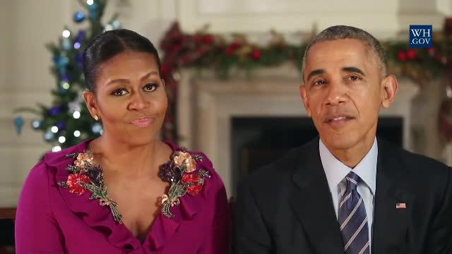 Ultimul mesaj de Craciun al familiei Obama, in calitate de presedinte SUA si Prima Doamna