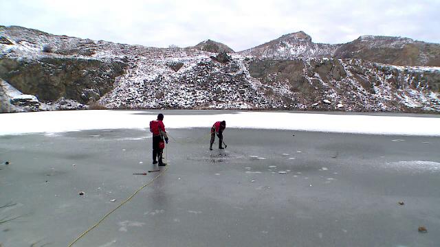 Experienta traita de trei scafandri dupa ce s-au scufundat in lacul inghetat din Muntii Macin: Adrenalina si-a facut efectul