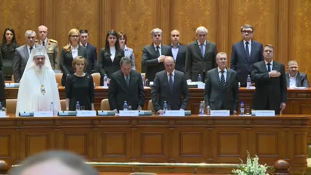 Principesa Margareta și președintele Iohannis au participat la ședința dedicată memoriei Regelui Mihai în Parlament