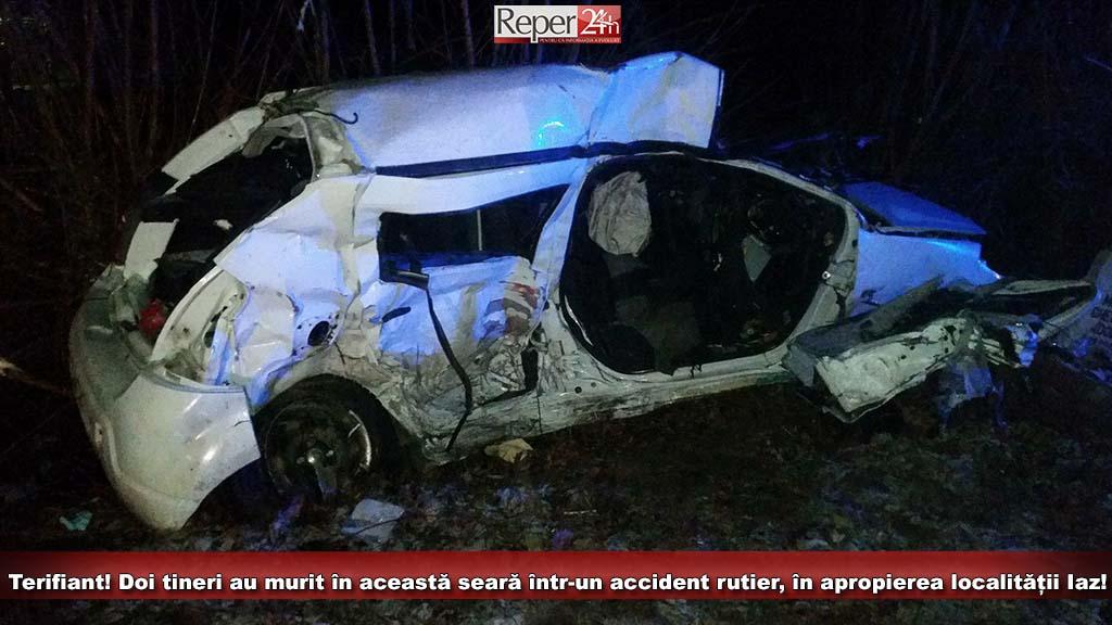Accident teribil în Banat. Doi elevi la Teologie au murit după ce mașina lor a derapat în curbă