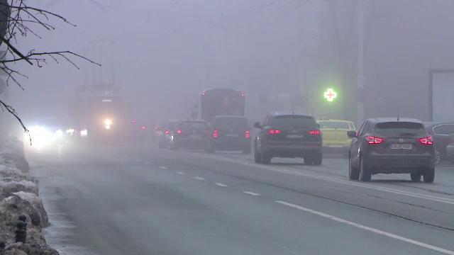 Alertă ANM: Cod galben de ceață densă în mai multe localități din țară