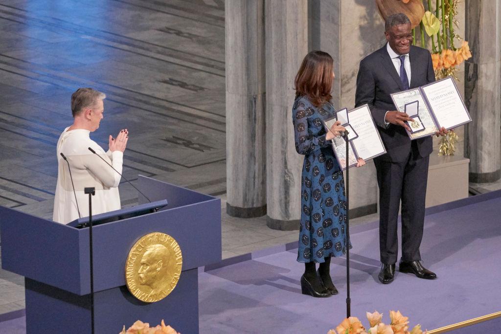 Nadia Murad şi Denis Mukwege, laureați ai Premiului Nobel pentru Pace, premiați la Stockholm