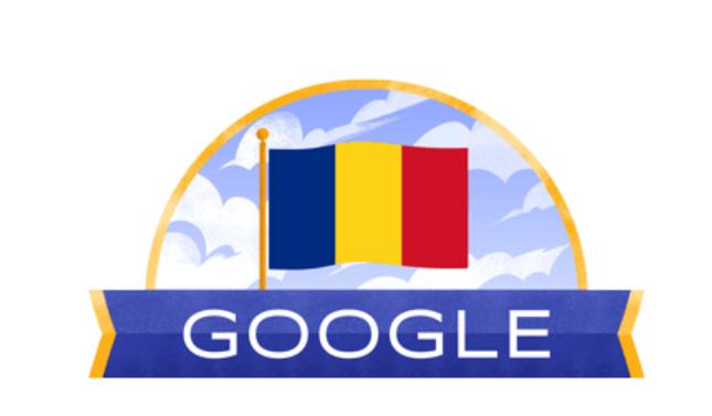 Ziua Naţională a României, marcată de Google printr-un doodle special