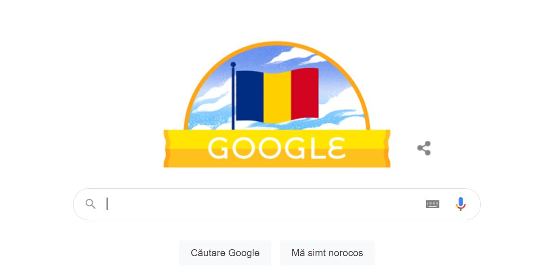 Ziua Națională a României, sărbătorită printr-un Google Doodle inedit