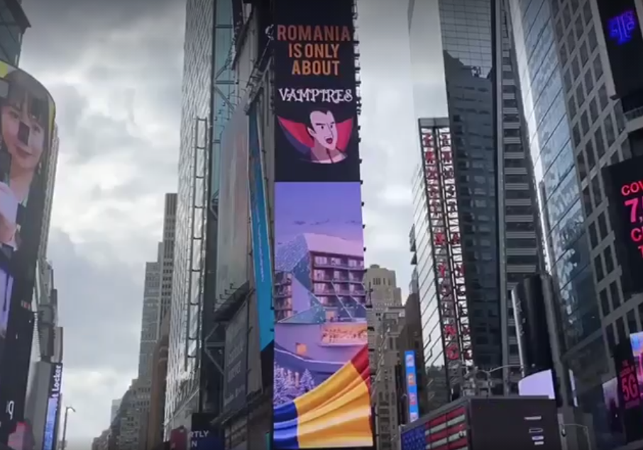 Cum a fost sărbătorită Ziua Națională de către românii de peste granițe. Tricolorul, afișat în Times Square