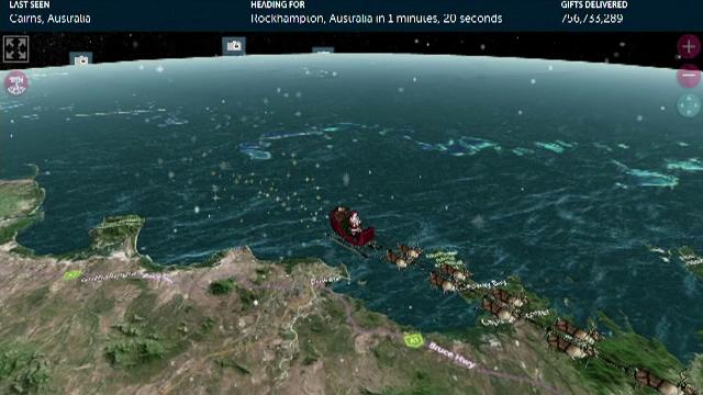 Unde poți urmări călătoria lui Moș Crăciun în jurul lumii. Este supravegheat de Forțele Aeriene Americane