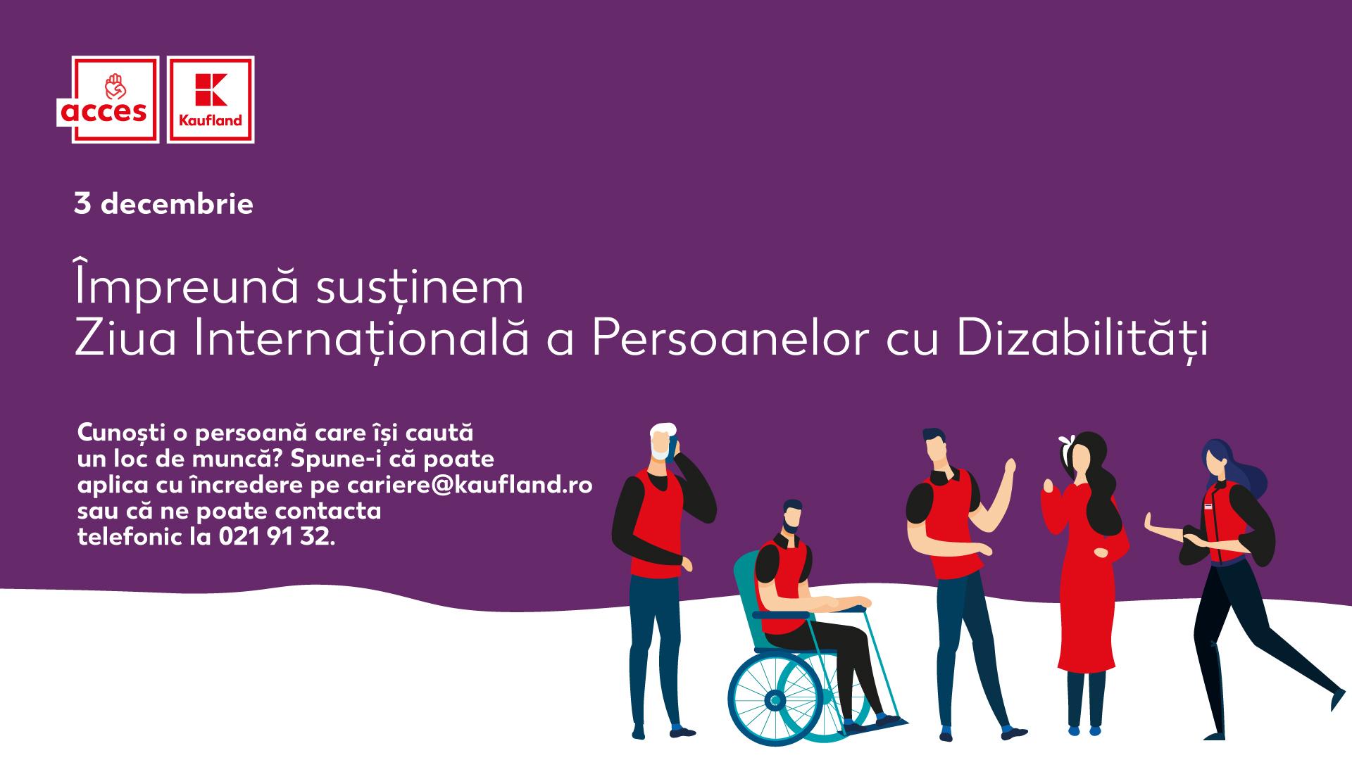Kaufland România, sprijin puternic pentru persoanele cu dizabilități