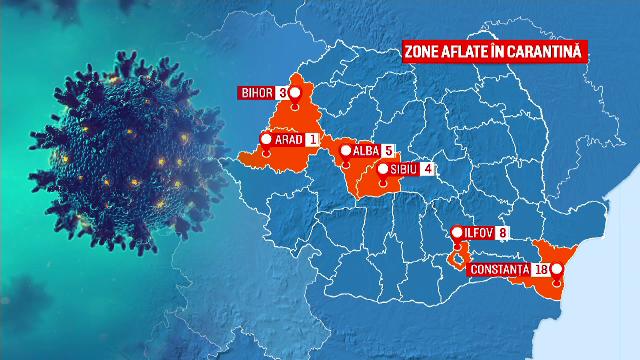 LISTA localităților care sunt în carantină. Restricțiile au fost ridicate în Cluj și Bistrița
