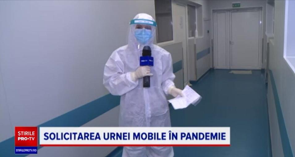 Urna mobilă, dusă la pacienții infectați cu Covid-19 din Spitalul Colentina care au vrut să voteze