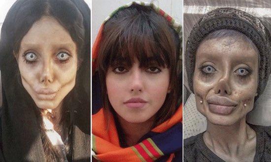 """Tânăra poreclită """"zombie Angelina"""", condamnată la 10 ani de închisoare în Iran"""