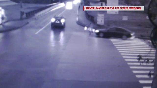 Lovit în plin de o mașină, lângă o trecere de pietoni din Iași. Ce a pățit șoferul