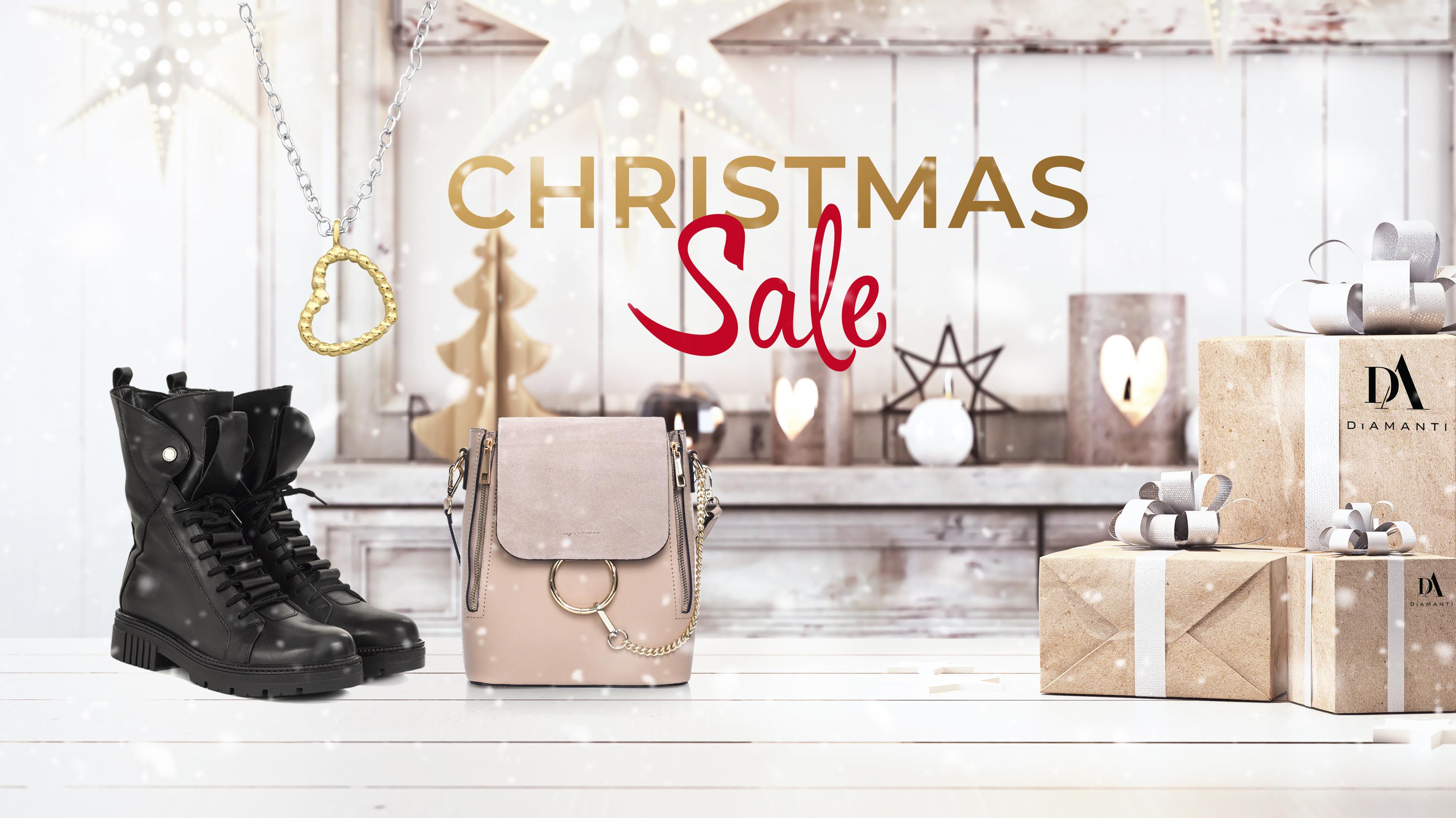 (P) Este Christmas Sale pe DiAmanti.ro. Comandă acum online genți, încălțăminte și bijuterii la prețuri excepționale!