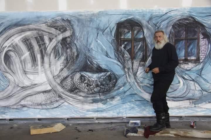 """Valeriu Sepi, fost colaborator al trupei Phoenix, prezintă expoziția de pictură """"DeSemne"""""""