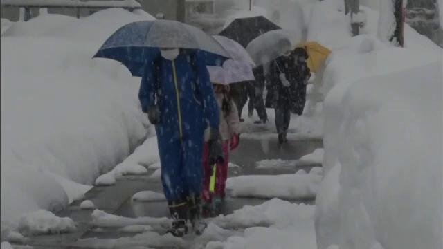 Japonia, lovită de ninsori masive. Oamenii circulă prin labirinturi de zăpadă