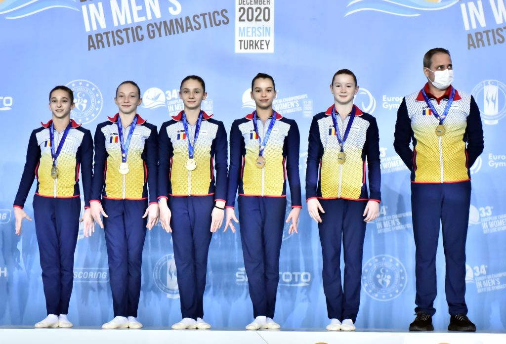 Medalie de argint pentru România la Campionatele Europene feminine de gimnastică artistică