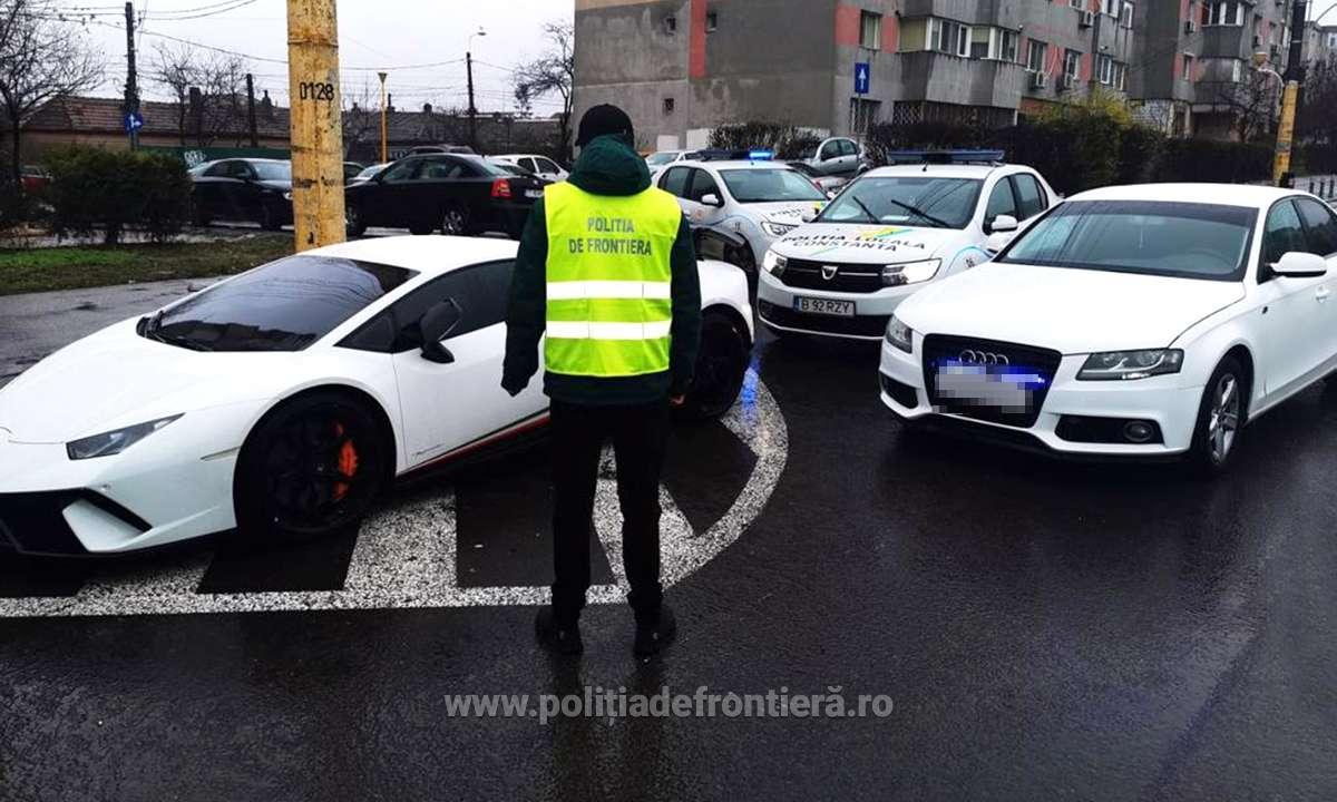 Lamborghini de 200.000 € furat din Germania, găsit parcat în Constanța. Ce greșeală a făcut șoferul