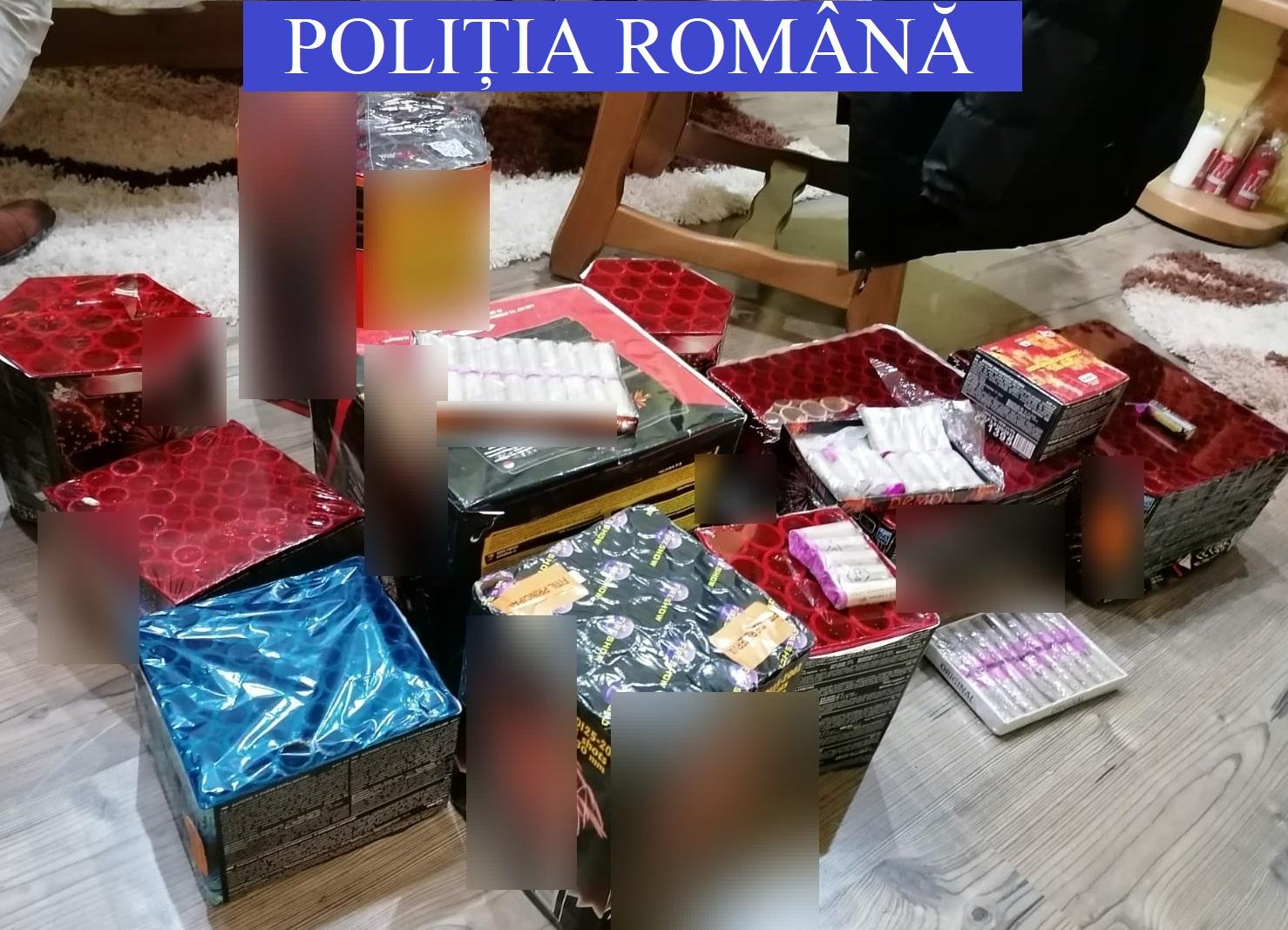 150 de kilograme de articole pirotehnice interzise, găsite în casa unui bărbat din Gorj