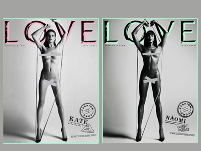 Naomi Campbell si Kate Moss, GOALE si SEXY pentru dragoste