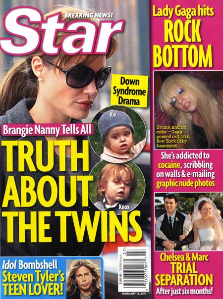 Star Magazine: Gemenii Angelinei Jolie sufera de sindromul Down