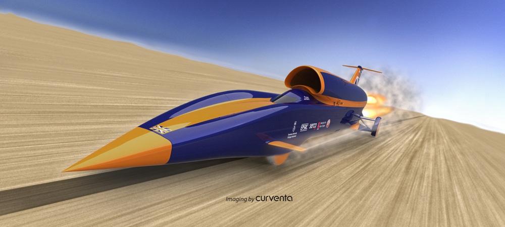 Masina care se ia la intrecere cu un avion supersonic: 1600 km/h