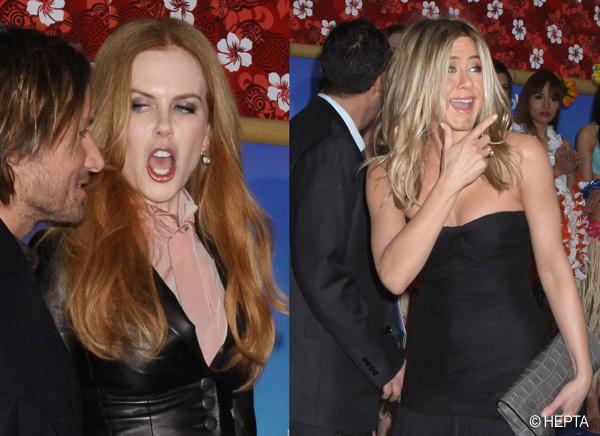 Ipostaza jenanta. Nicole Kidman, cu gura larg deschisa. FOTO