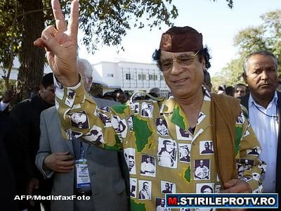 Gaddafi: Poporul ma adora. Libienii ar muri ca sa ma protejeze