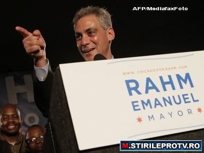 Rahm Emanuel, noul primar al orasului Chicago, este de origine romana