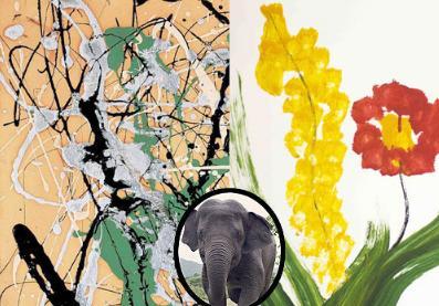 Care e opera de arta din 1949 si care e creatia unui elefant?
