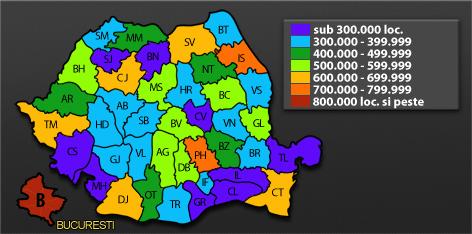 Recensamant 2011. Populatia Romaniei: 19 milioane de locuitori in tara. HARTA INTERACTIVA pe judete