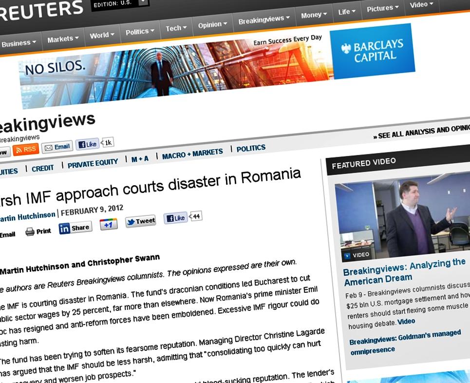 Analiza Reuters: in Romania, FMI a fost ca un