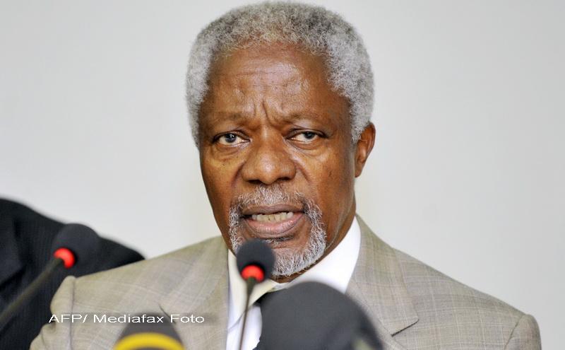 Kofi Annan sustine ca Bashar al-Assad a acceptat sa puna capat violentelor din Siria