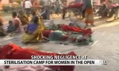 Lagarul de sterilizare din nord-estul Indiei. Femei operate si abandonate pe campuri. VIDEO