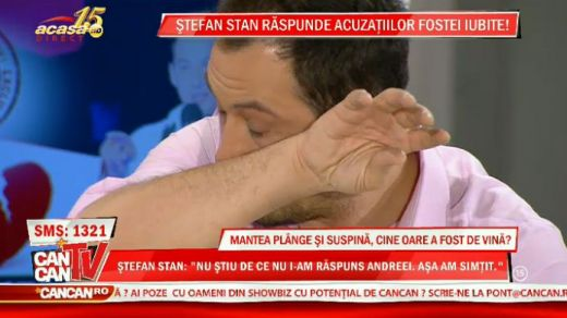 Ce i-a facut pe Stefan Stan si Ilinca Vandici sa verse lacrimi in direct la CancanTV. VIDEO