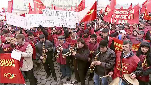 Protest la Posta Romana, o gaura de 40 milioane euro pe an. Angajatii se tem de taieri de salarii