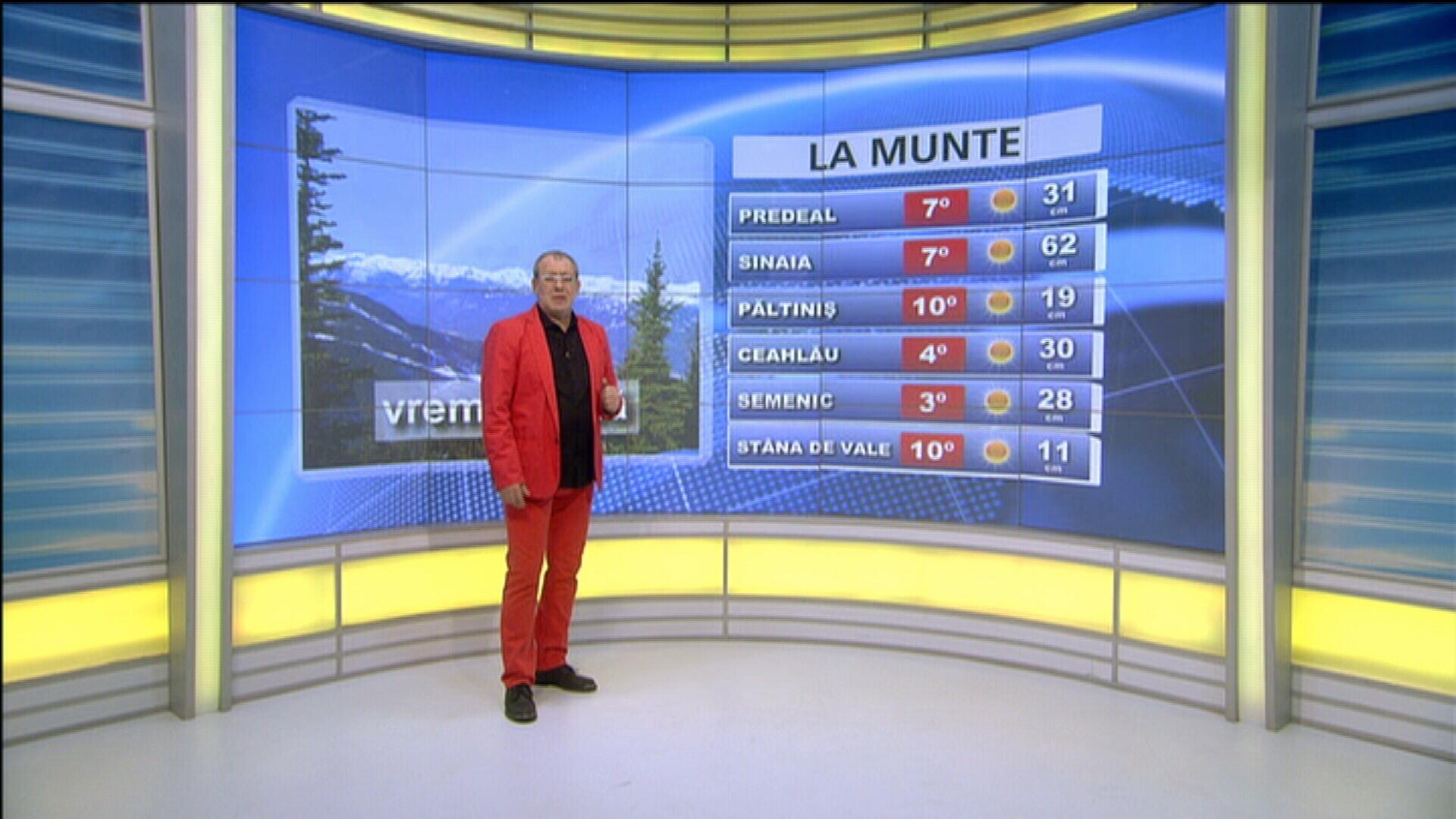 Vremea in ziua de 4 februarie 2014, prezentata de Florin Busuioc. Prognoza meteo pana vineri