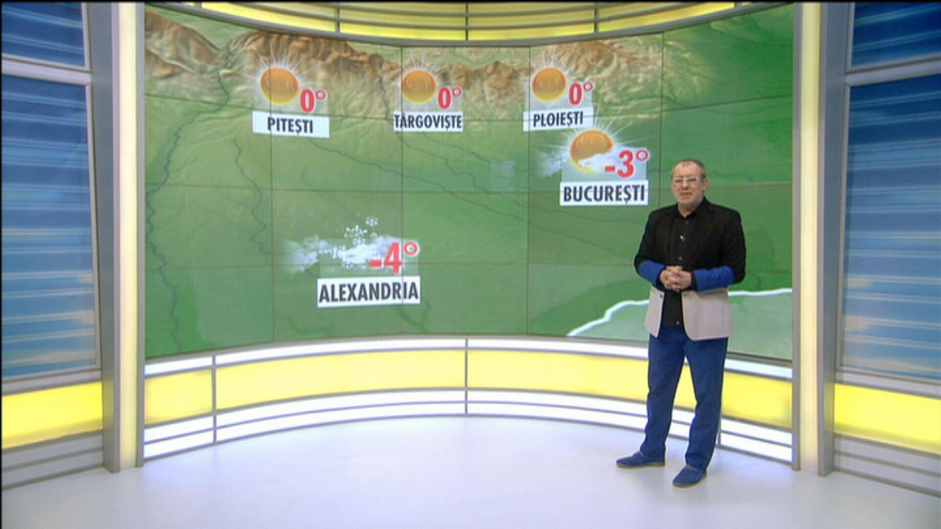 Vremea in ziua de 5 februarie 2014, prezentata de Florin Busuioc. Prognoza meteo pana sambata