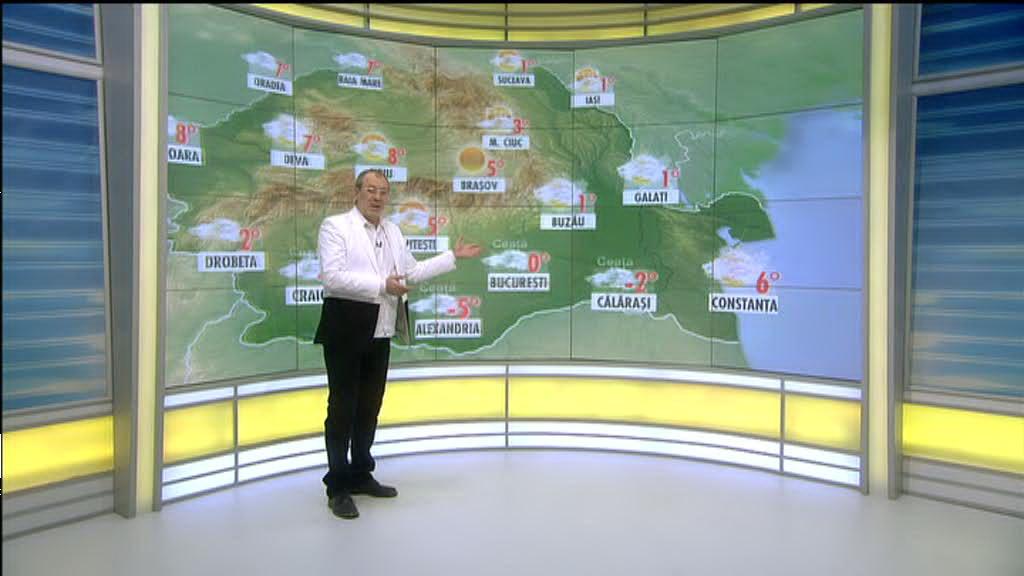 Vremea in ziua de 6 februarie 2014, prezentata de Florin Busuioc. Prognoza meteo pana duminica