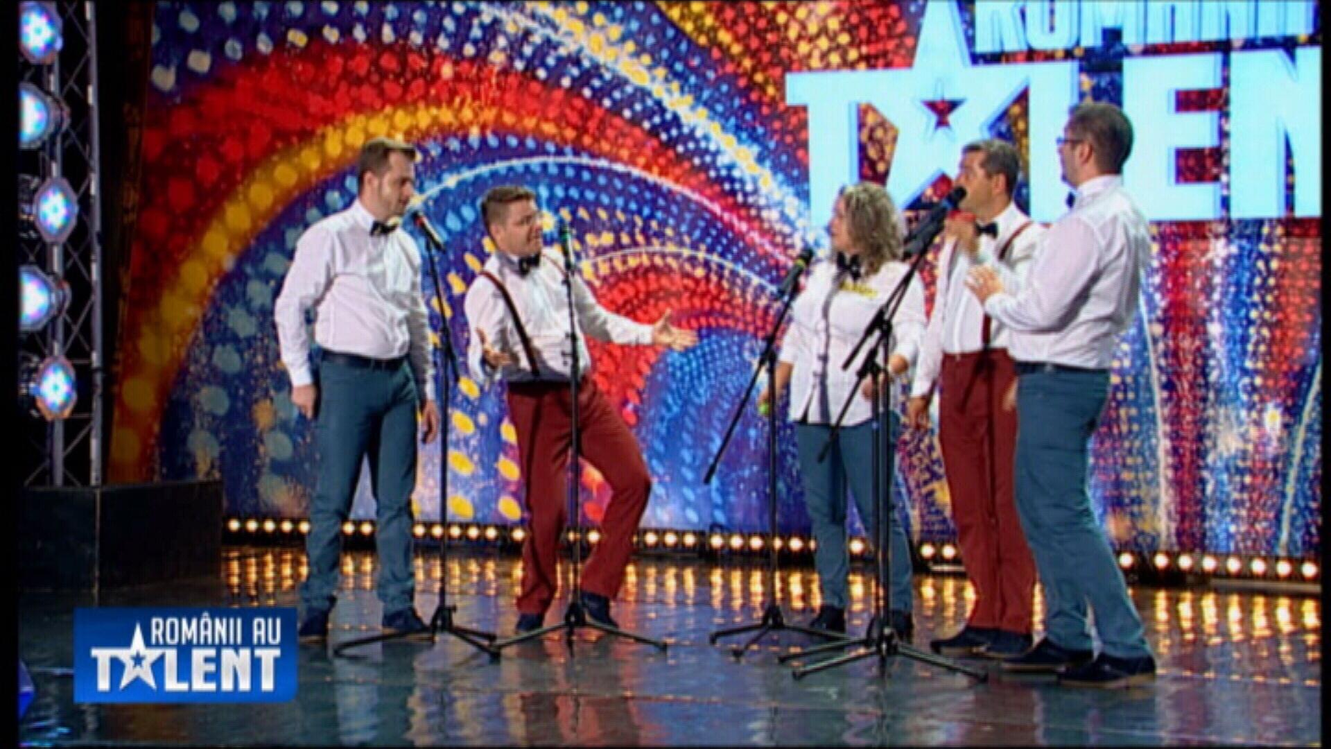 Romanii au talent, sezonul 4. Cvintetul vocal Anatoly din Brasov a primit biletul care ii trimite direct in semifinale