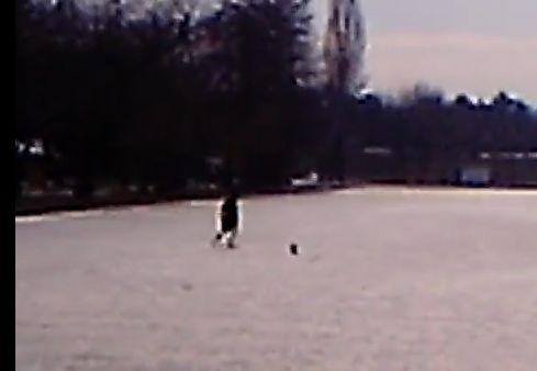 Imagini din Capitala: Un tanar se lupta sa se salveze dintr-un lac inghetat, in timp ce martorii se multumesc doar sa filmeze