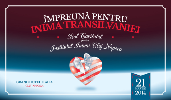 Impreuna pentru Inima Transilvaniei. Bal Caritabil pentru Institutul Inimii Cluj-Napoca