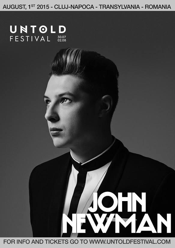 Lista de artisti a Festivalului Untold se rotunjeste cu inca un nume de anvergura: John Newman