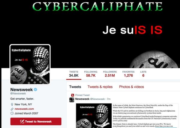 Contul de Twitter al revistei Newsweek, atacat de Califatul Cibernetic.