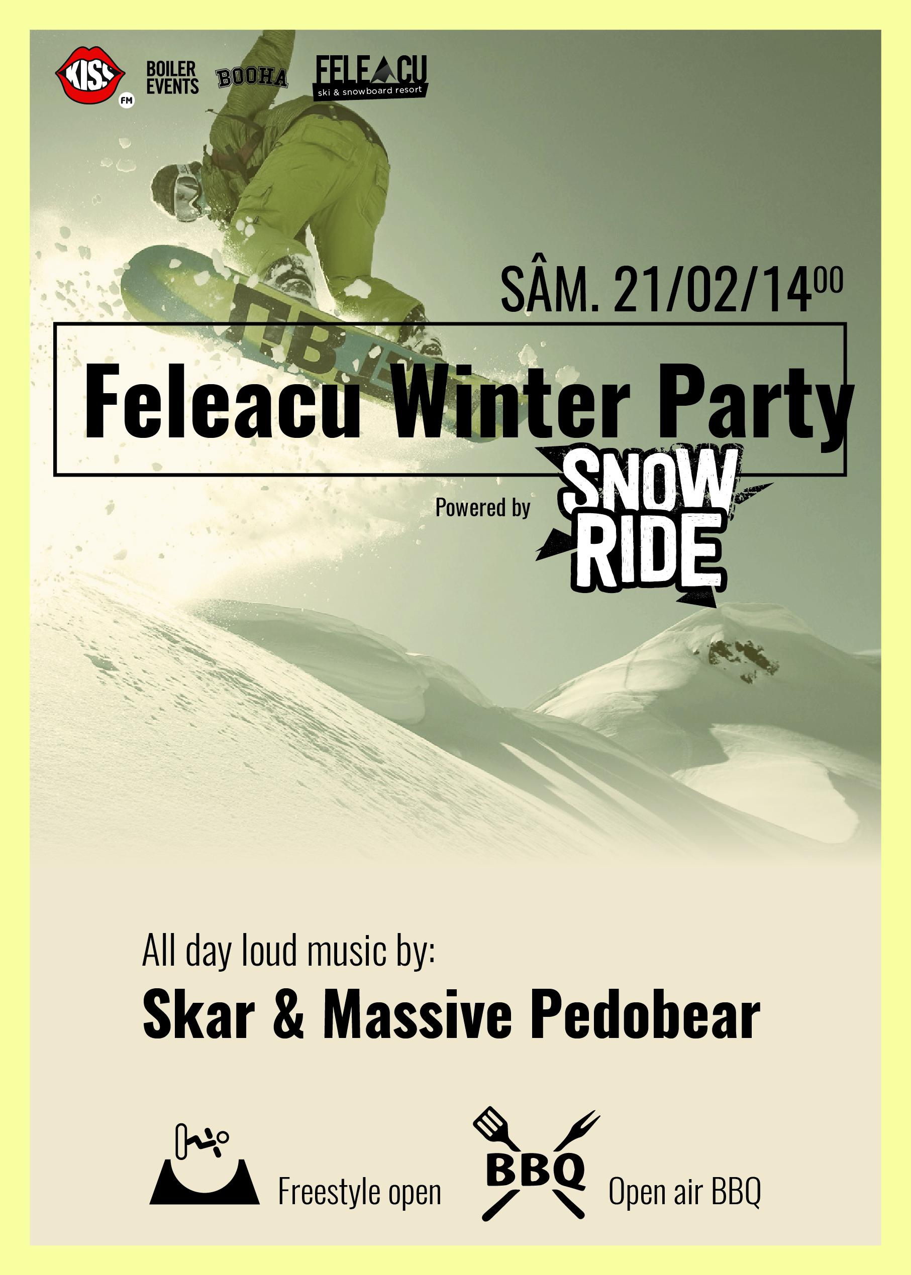 Iubitorii sporturilor de iarna sunt asteptati in weekend la Feleacu Winter Party