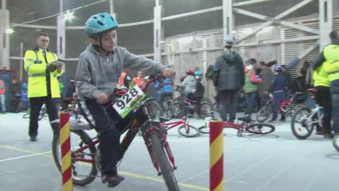 Competitie de biciclisti pitici in Salina Turda. Peste 60 de copii au participat la un eveniment de educatie rutiera