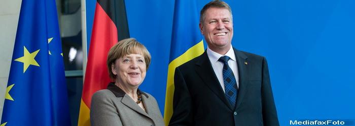 Presedintele Romaniei s-a intalnit cu cancelarul german. Iohannis: