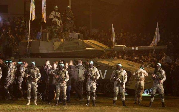 Gafa facuta de teroristii Hamas atunci cand si-au prezentat noul tanc.
